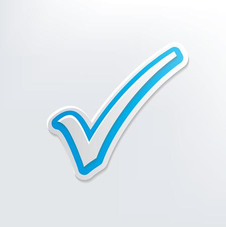 check symbol: Check mark design on white background