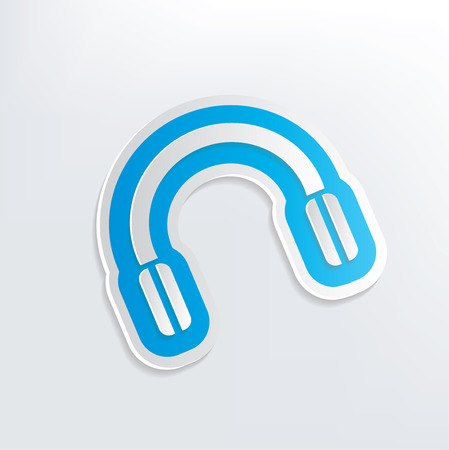 earphone: Earphone design on white background