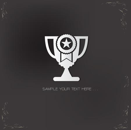 background trophy: Trophy design on old background,vector Illustration