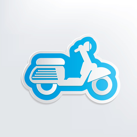 a two wheeled vehicle: Motorcycle design on white background,clean vector