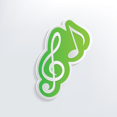 the song: Song design on white background,clean vector Illustration
