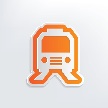 Train design on white background,clean vector Vector