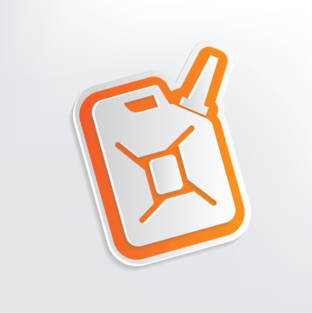 Oil design on white background,clean vector Vector
