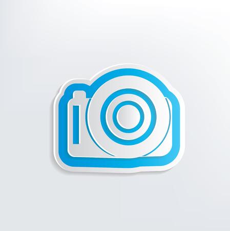 Camera design on white background,clean vector Illustration