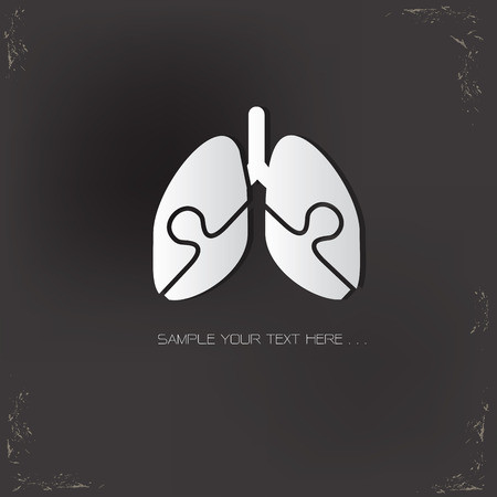 Lung design,vector design template