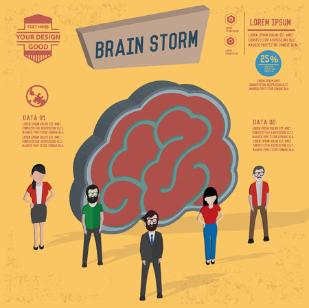 brain storm: Brain storm design,and character concept,clean vector