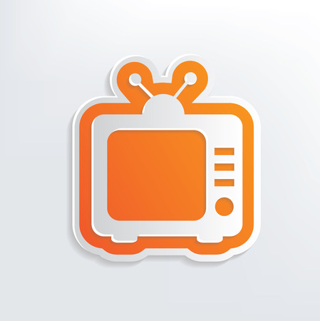 whitern: Television design on white background,clean vector Illustration