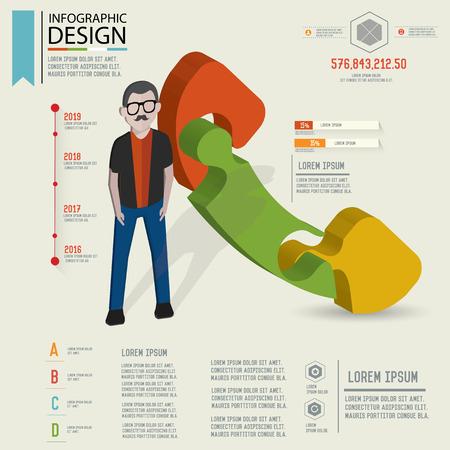 three dimension: Puzzle info graphic design,Three dimension design,clean vector