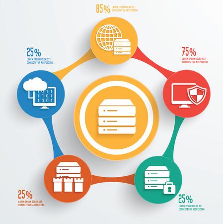 Database server info graphic design,clean vector Stock Vector - 38703875