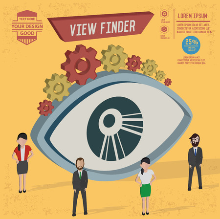 finder: View finder design,and character concept,clean vector Illustration