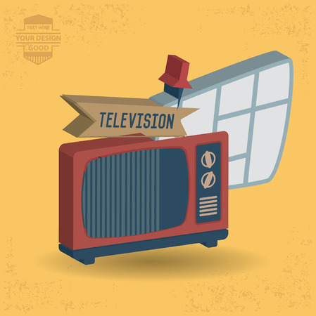 switcher: Television design,and character concept,clean vector Illustration
