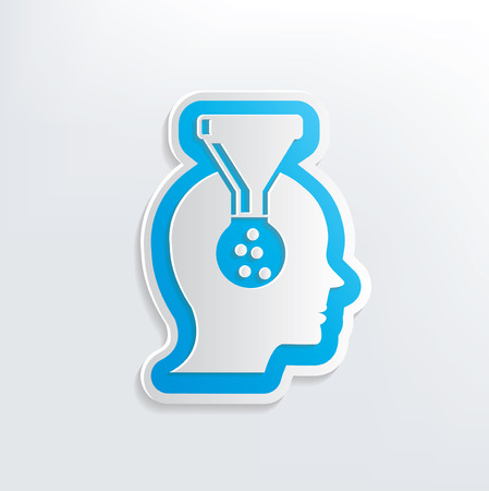 Brain filter design on white background,clean vector Vector