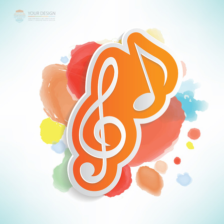 trill: Song design,water colour design,clean vector
