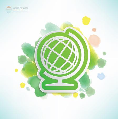 picto: Global design,water colour design,clean vector Illustration