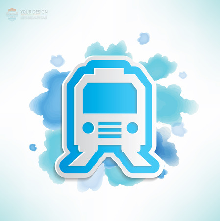high speed railway: Train design,water colour design,clean vector