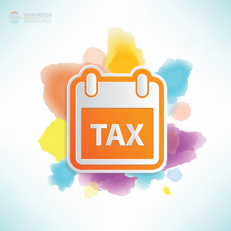 Tax design,water colour design,clean vector
