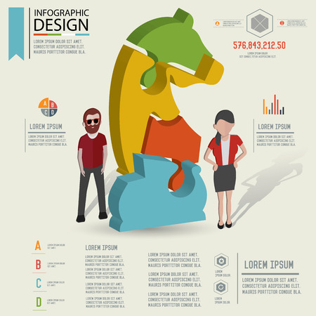 情報グラフィック デザイン、3 つのディメンションのデザイン、きれいなベクトルをパズルします。