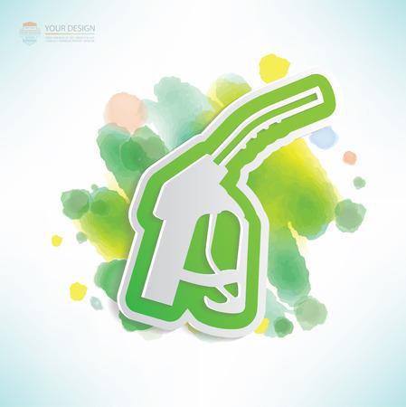 Oil design,water colour design,clean vector Illustration