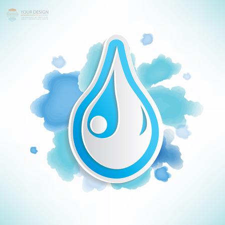 Water design,water colour design,clean vector