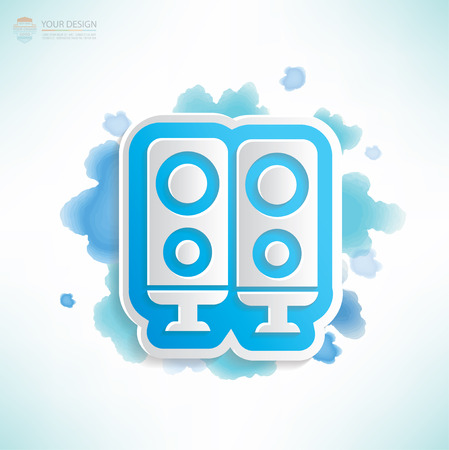 whitern: Sound design,water colour design,clean vector Illustration