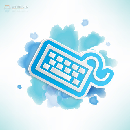 rnabstract: Keyboard design,water colour design,clean vector