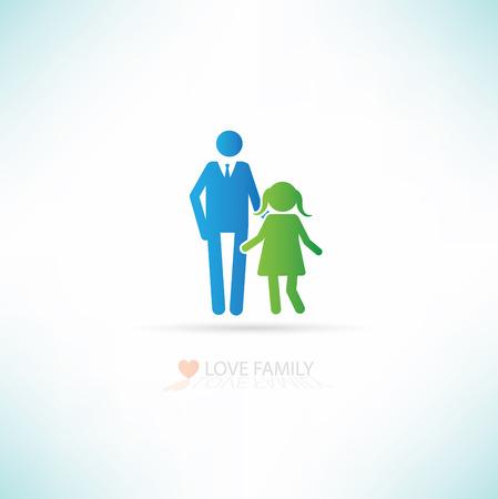 stroll: Love family concept design,clean vector Illustration