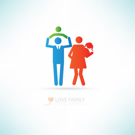 Love family concept design,clean vector Illustration