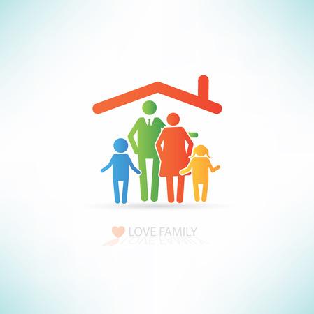 Diseño del amor concepto de familia, limpio vector
