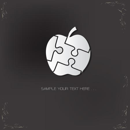 granny smith apple: Apple design,vector icon design template