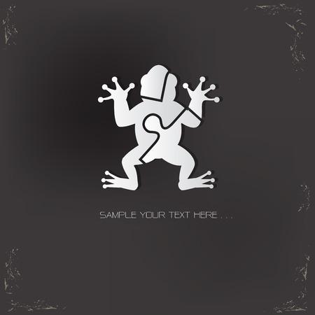 croaking: Frog design,vector icon design template