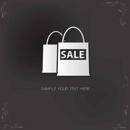 old background: Shopping design on old background,vector Illustration