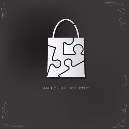 whitern: Shopping bag design,vector logo design template