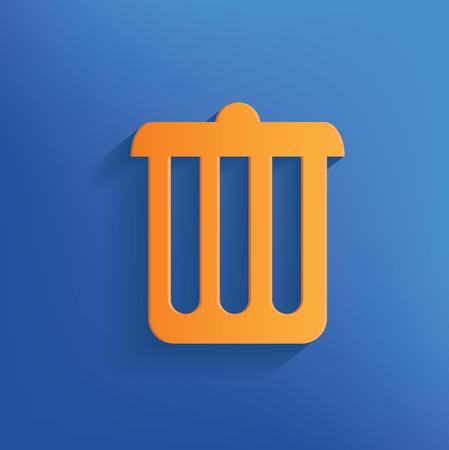 Bin icon design,clean vector Фото со стока