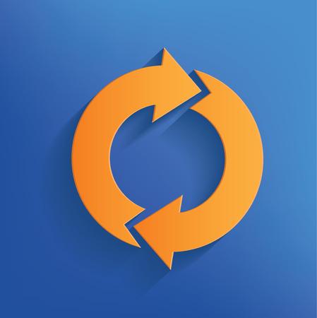 retry: Refresh design,clean vector Stock Photo