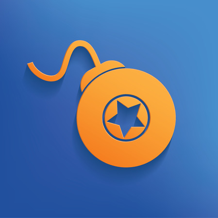 stress ball: Bomb design on blue backgroundclean vector