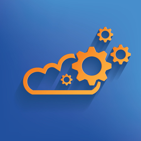 Cloud computing design on blue backgroundclean vector Vector