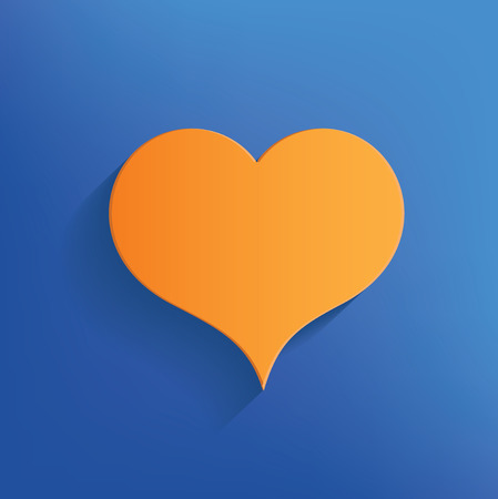 cuore disegno: Heart design on blue backgroundclean vector