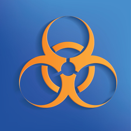 Bio hazard design on blue backgroundclean vector Vector