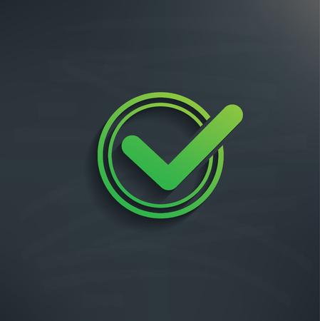 quadrate pictogram: Check mark design Stock Photo