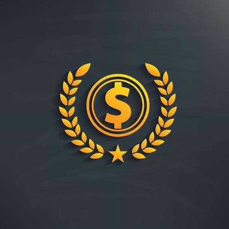 accounting logo: Dollar design on blackboard backgroundclean vector