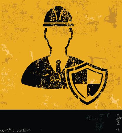 pied   � coulisse: La conception technique sur le concept vecteur backgroundgrunge jaune Illustration