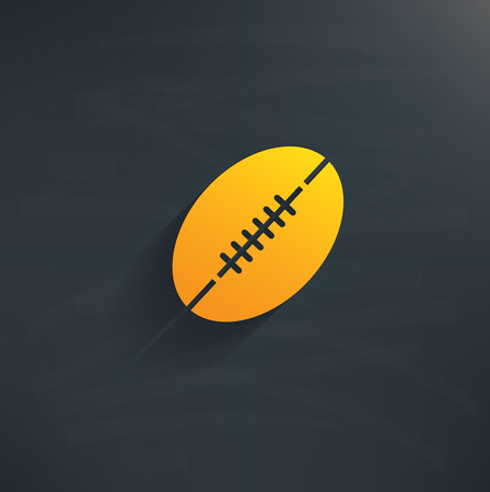 Rugby on blackboard backgroundclean vector Vector