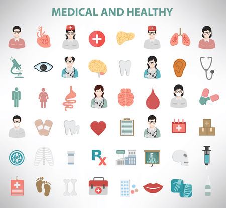 Medical Icons clean vector Vector