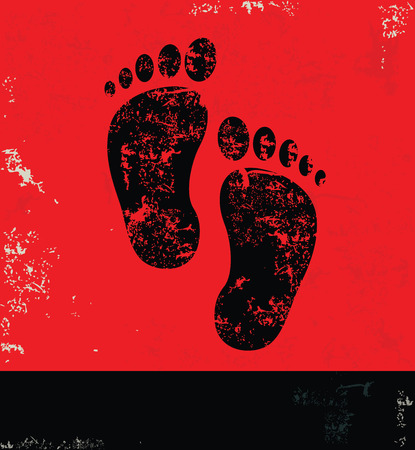 foots: Foots design on grunge background red version