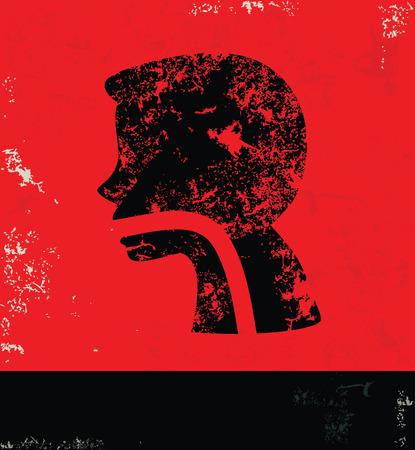 appendix ileum: Gastrointestinal design on grunge background red version Illustration