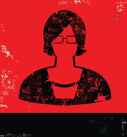 Woman design on red backgroundgrunge vector Vector