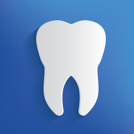 eps vector art: Tooth on blue backgroundclean vector Illustration