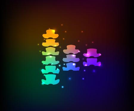 patella: Bone design on dark background rainbow concept