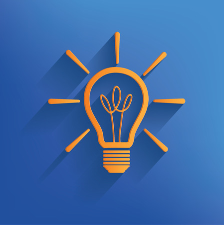 kilowatt: Light bulb design on blue backgroundclean vector