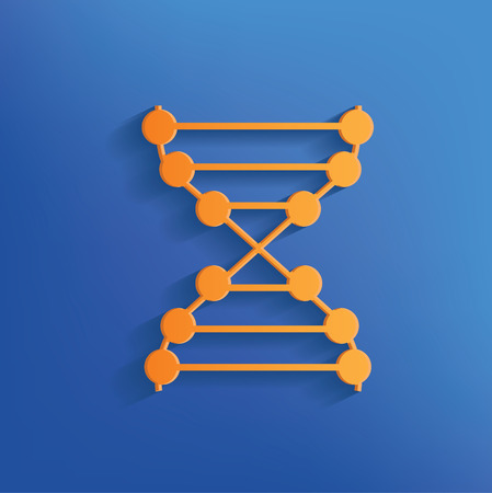 enzyme: Enzyme design on blue backgroundclean vector